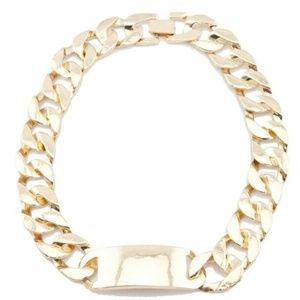 T&J Design 18K Gold Plated Link Choker Necklace